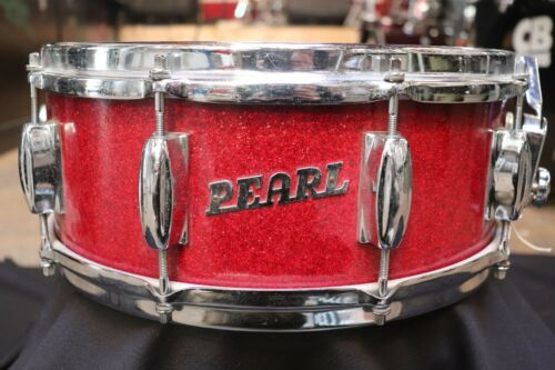 Pearl 5.5x14 Snare Drum Red Sparkle Vintage 1960
