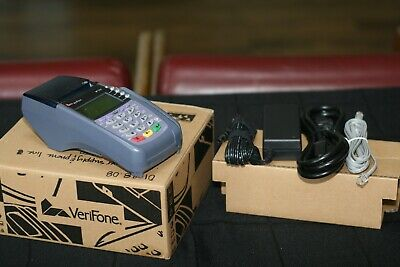 Verifone Vx510 Credit Card Terminal With Power Supply And Phone Cable