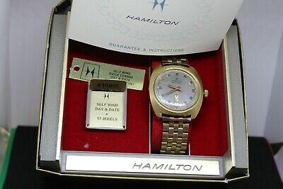 Vintage Watch Hamilton Self winding  1970s  self wind day & date W/box + papers