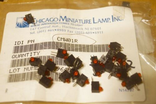 25X new CHICAGO MINIATURE  Red Indicator LED Bulbs,  LOT OF 25