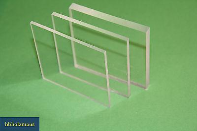 ( 4,99 €/m² ) Polyester Pet-G Platten klar 600 x 520 x 0,8 mm