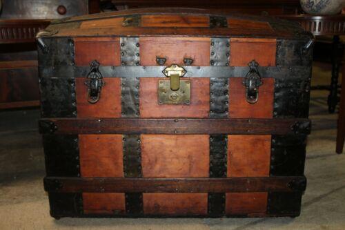 Antique Victorian Domed Steamer Trunk