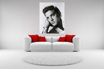 Elvis Presley Portrait Canvas Vintage Giclee Print Picture Unframed Home Decor