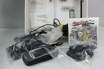 Lowrance iWAY 100M Automotive Mountable GPS Receiver CIB W/ Accessories