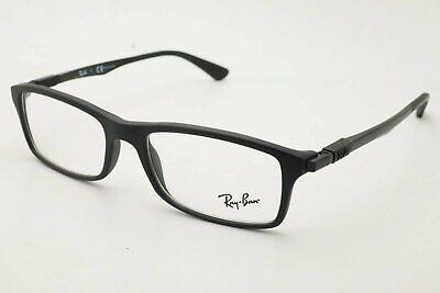 New Ray Ban RB 7017 5196 Matte Black Eyeglasses 54mm