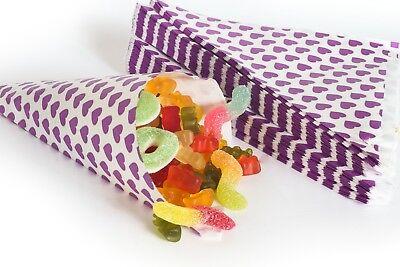 en lila 19cm Papiertüten Geschenktüten CandyBar Give away (Papier Geschenke)