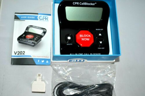CPR Call Blocker V202 Block Unwanted Telemarketer Robo Call 1000 Number / NEW