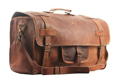 Traditional Best Leather Handmade Vintage Duffel Luggage Weekend Overnight (Best Leather Weekend Bag)