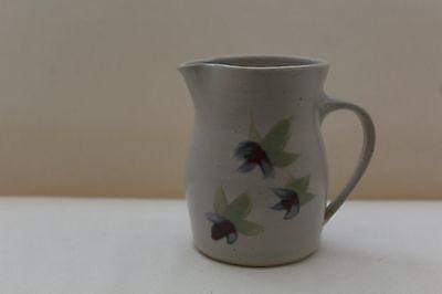 Vintage Handmade Harlech Pottery Jug with Floral Design
