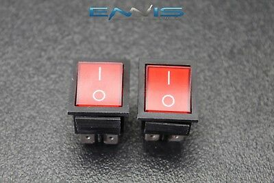 2 Pcs Rocker Switch Dpst On Off Toggle 15 Amp 250v 20 Amp 125v 4 Pin Ec-2604