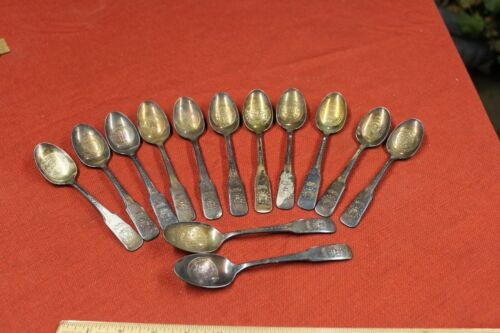 Vintage 13 Colony State Bicentenial Spoon Set International 1776 1976