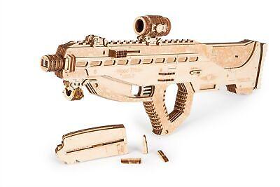 - Wood Trick Assault Gun USG-2 Model Mechanical Wooden 3D Puzzle Self Assembly Kit