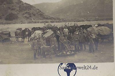 alte Foto AK Soldaten bei der Etappe  Bulgarien um 1917