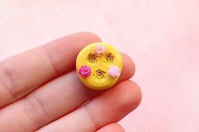 TINY Rose Mold for Polymer Clay - Flower Food Safe Flexible Silicone