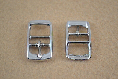 """Buckle - 1/2"""" - Nickel Plated - Double Bar - Pack of 48 (F217)"""
