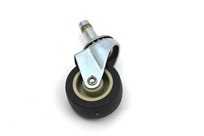 Lot Of 4 Swivel 1.75 Rubber Stem Casters Wheels