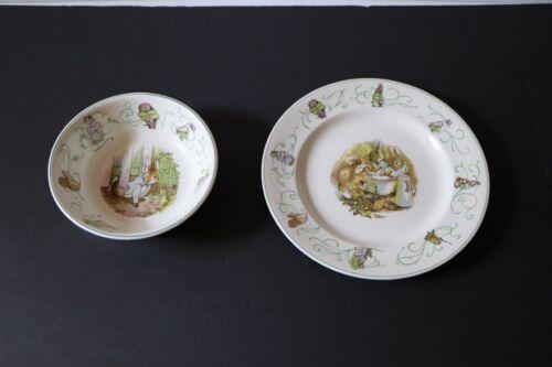 Wedgewood Peter Rabbit nursery china children pottery dish bowl Vintage CM6466