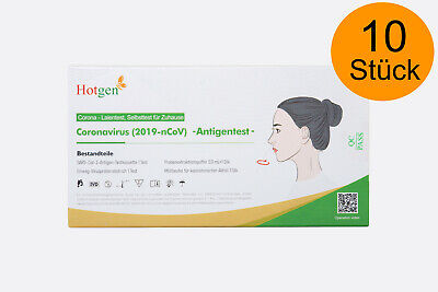 10x Hotgen Selbsttest Corona Schnelltest Antigen Nasal 2 cm Stäbchen - Laientest