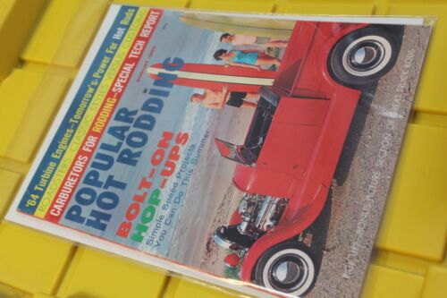 Popular Hot Rodding August 1963 Sports Car Surfboard Surf Wagon Surfing MAGAZINE