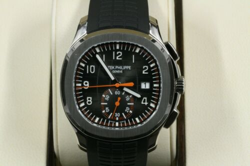 Patek Philippe Aquanaut 5968a-001 Black Embossed Arabic Index Dial