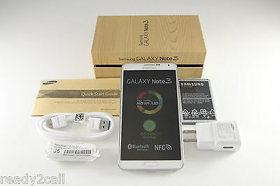 New Samsung Galaxy Note 3 III SM-N900A White 32GB WiFi 13MP AT&T Unlocked GSM