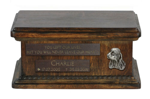 Clumber Spaniel, dog, exclusive urn with dog, type 2 Art Dog, CA