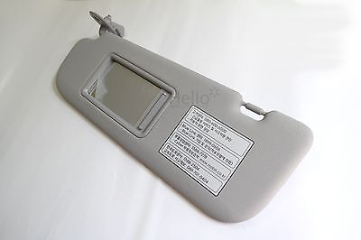 Genuine 852103X000TX Sun Visor Gray Driver LEFT For 2011 - 2014 Hyundai Elantra