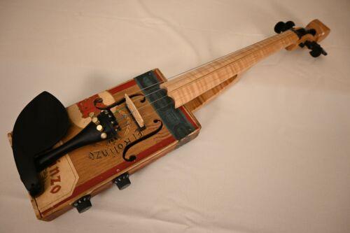 Electric Cigar Box Violin Made by Steven Miller Carolina Fiddle El Rolinzo #73