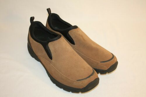 Lands' End Mens Brown Suede Slip-On Casual Loafers Shoes Size 13D