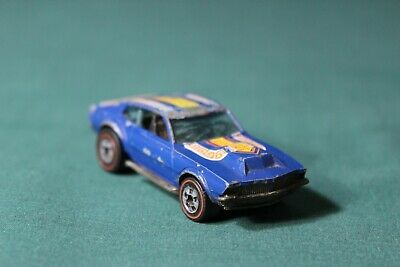 Hot Wheels Redline Mighty Maverick Flying Colors Dark Blue Enamel 1976