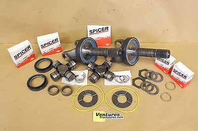 Ford Super Duty Front Axle Seal Bearing Outer Shaft U Join Kit Common Wear Items