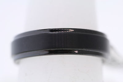 6 Mm Bevel Edge (6mm Triton Black Tungsten Carbide Satin Finish Center Step Bevel Edge Band)