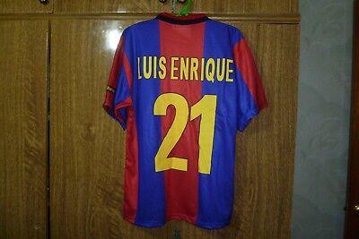 edaea15c9 Barcelona FC Rogers Football Shirt  21 Luis Enrique Home 1998 1999 2000  Size S