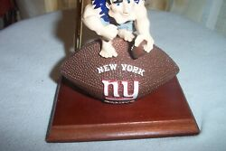 NEW YORK GIANTS NFL TEAM  DESK SET WITH CLOCK  - NEW IN BOX