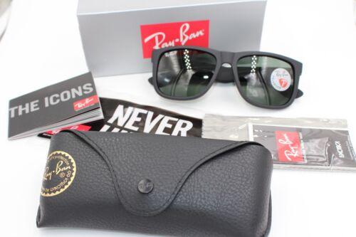 Ray-Ban Wayfarer Sunglasses RB4165 Justin Polarized Lens 54mm Matte Black Frame