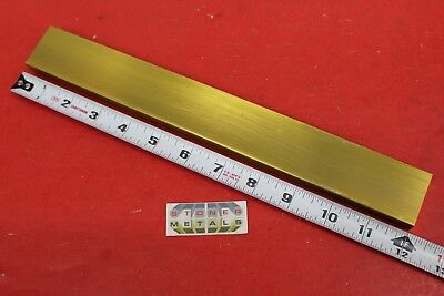 12 X 1-12 C360 Brass Flat Bar 12 Long Solid .50 Plate Mill Stock H02