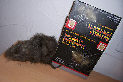 Halloween Fensterratte Ratte