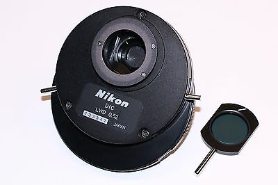 Nikon Dic Hoffman Lwd 0.52 Condenser For Diaphot Microscopes Mint Condition