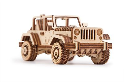 Wood Trick Safari Car Model Mechanical Wooden 3D Puzzle Self Assembly Kit Set](Wood Kits)