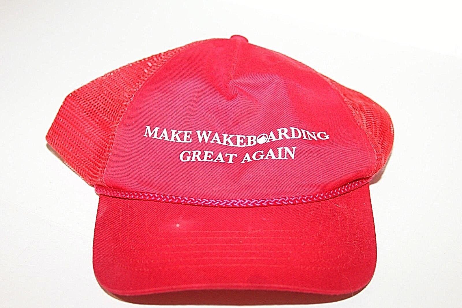 Make Wakeboarding Great Again Mesh Snapback Red Tr