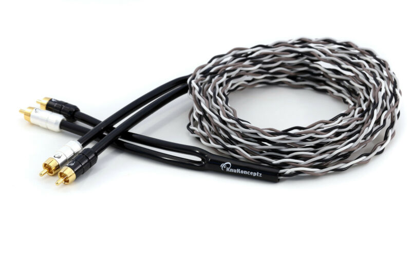 KnuKonceptz Krux Kable 1/2M Interlaced 3D Copper Twisted Pair RCA Cable 1.5Ft