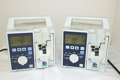 Abbott Hospira Micro Macro Plum Xl Iv Infusion Pump Lot Of 2 Free Shipping