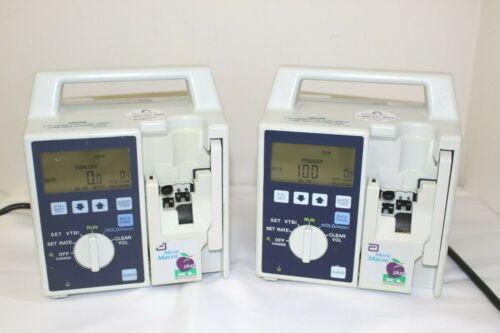 Abbott Hospira Micro Macro Plum XL IV Infusion Pump, LOT OF 2, Free Shipping