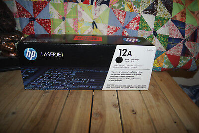 HP Q2612A 12A (Black) Genuine Toner Cartridge NEW for sale  Shipping to India