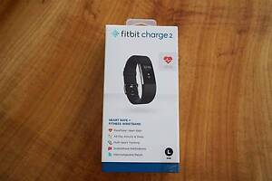 Fitbit Charge 2 Heart Rate + Fitness/Sleep tracker - Black/Small Balwyn Boroondara Area Preview