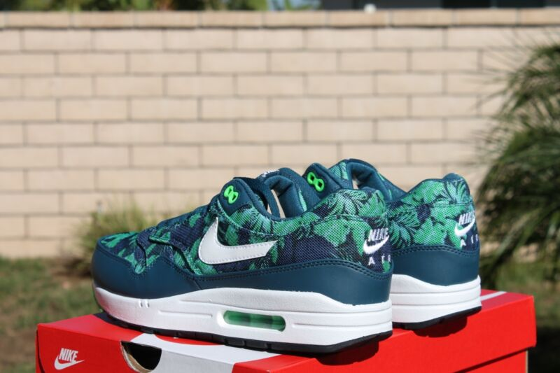 info for b6986 082db ... Nike AIR MAX 1 GPX SZ 11 5 Space Blue White Black Jade Tropical 684174  400 ...