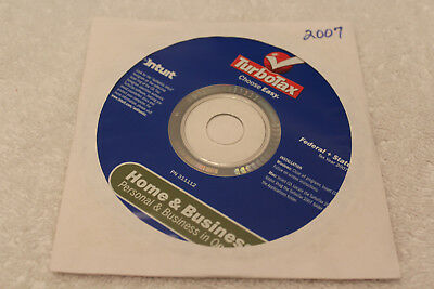 Free Shipping   Intuit Turbotax Premier For Tax Year 2007   Windows   Mac