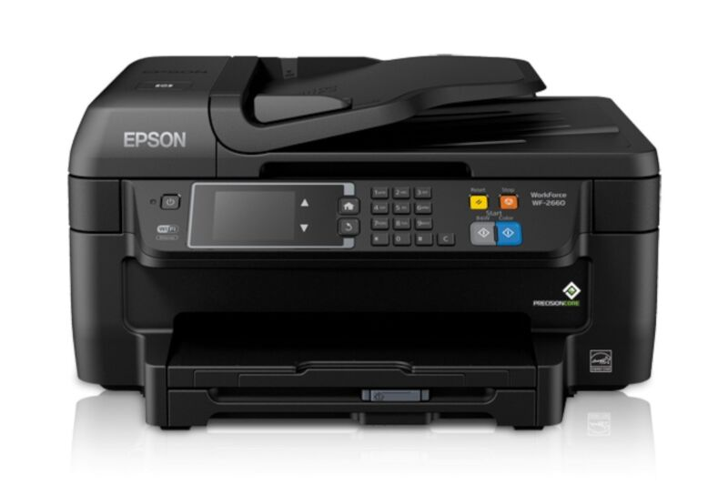 Epson WorkForce WF-2660 Wireless All-In-One Printer Black C11CE33201