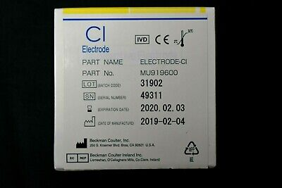 Beckman Coulter Mu919600 Ion-selective Ise Chloride Cl Electrode Exp Feb 2020