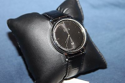 Hugo Boss Tradition Mens Quartz Analog Watch 1513460 NWT Black Croc Embossed  for sale  Shipping to India